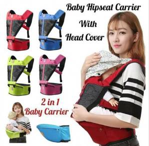 Kid Baby Hipseat Carrier With Head Cover (a)