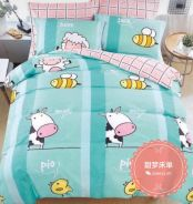 5in1 Cartoon Cute Comforter Bedsheet bed sheet