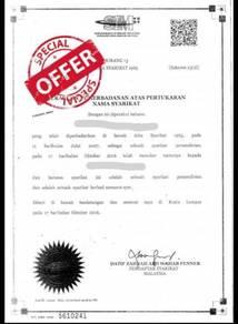Syarikat Sdn Bhd Untuk Dijual