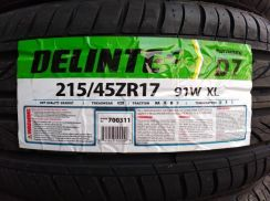 215/45/17 Delinte Thunder D7 Tyre Thailand Tayar