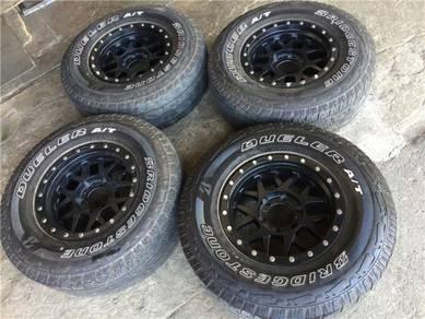 4X4 US Matt Black 16Inch Design v Tyre 265-70-16