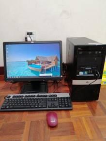 Hp computer deskstop set 6 in 1