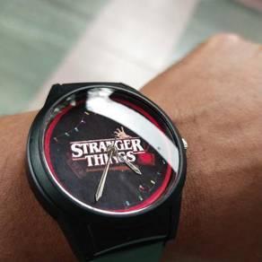 Q&Q; Stranger Things Custom Watch