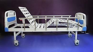 ABS Katil hospital bed 2 crank +wheels +side rails