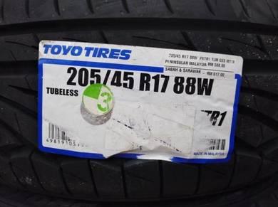 205/45/17 Toyo Proxes TR1 Tyre 2020 Tayar