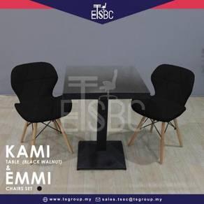 Kami table (60cm) + 2 emmi chair
