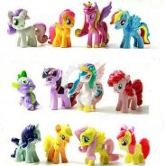 12 pcs My Little Pony Exclusive Toy Figurines