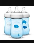 Philips Avent Natural 260ml/9oz blue whale