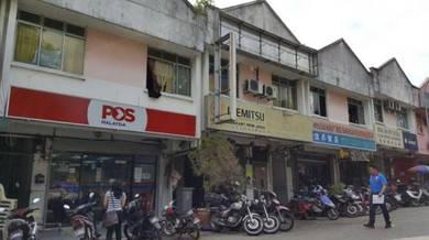 Taman megah ria double storey shop good investment (roi 5%++)