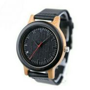 Men Genuine Leather Band Wooden Watch. TTV000005