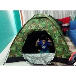 Camo army camping tent / khemah 10