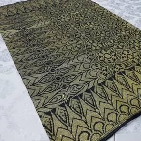 Sampin songket hitam sulam emas 2 meter nikahh