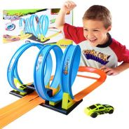 4 Upside Down Stunt Loops Racing Track