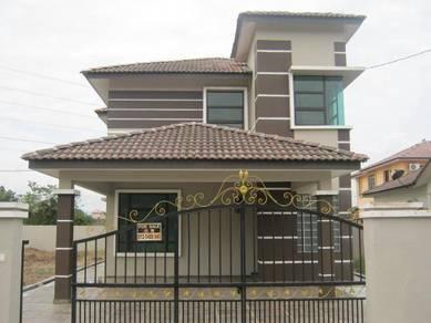 FULL LOAN Nice corner double storey bungalow in bercham tambun