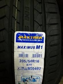 Tayar Baru 205 50 16 Maxtrek New Tyre