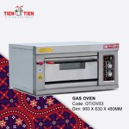 Gas Oven 1 Deck / Single Deck / 1 Tier / 1 Tingkat