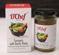 D'chef turmeric with garlic paste