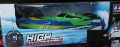 Blue rc racing boat