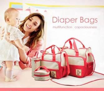 Kid 5 in 1 Mummy Essential Diaper Bag (a)