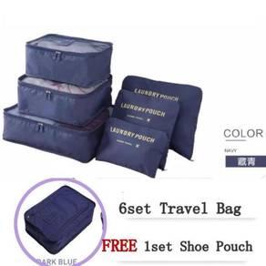 BEST BUY!!Korean travel storage 6set FREE shoe bag