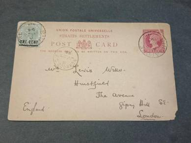 Postcard Straits Settlements Victoria 1894 PC 128