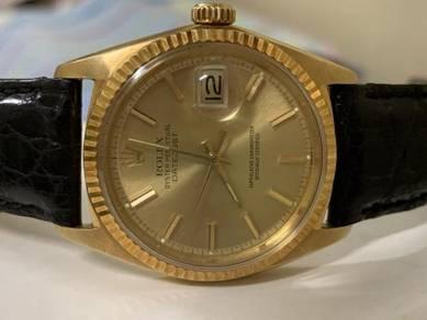 Rolex Datejust Ref 1601/8 Solid Gold