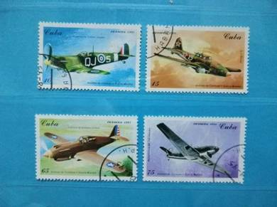 1995 Cuba Stamps WW2 Combat Fighter Planes