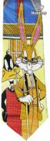 Dr Bug Bunny Daffy Duck Cartoon Fancy Neck Tie