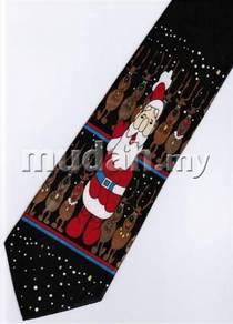 Christmas Santa Claus Cartoon Neck Tie 4