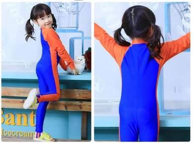 Baju renang swimsuit Long Sleeves BLUE BOY/GIL