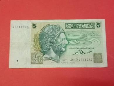Wang Lama TUNISIA 5 Dinars X075