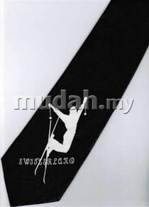 Ski Sport Cartoon Fancy Novelty Neck Tie