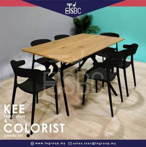 Kee table + 6 colorist chairs