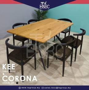 Kee table + 6 corona chairs