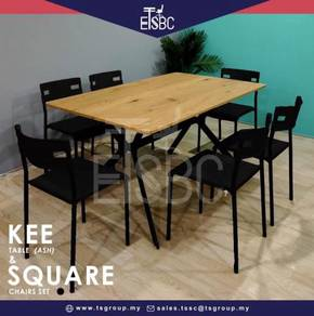 Kee table + 6 square chairs