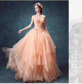 Pink wedding bridal prom dress gown RB0366