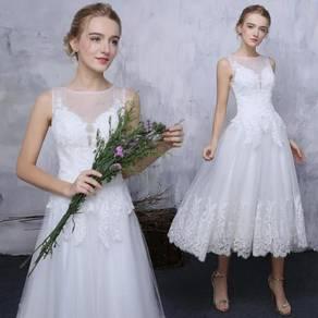 White prom dinner wedding bridal dress RB0135