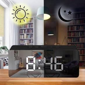 Modern LED Mirror Alarm Snooze Clock Display