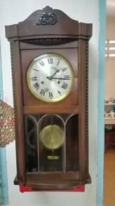 Ber1 Antique German Westm. Wall Clock Jam Antik