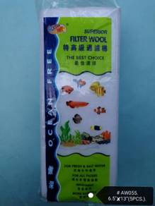 Ocean Free Filter Wool 5xPcs AW055 Aquarium Fish