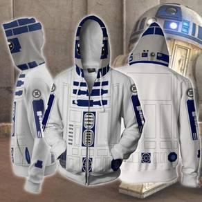 Star wars r2-d2 Zip Up Hoodie jacket RBT0079