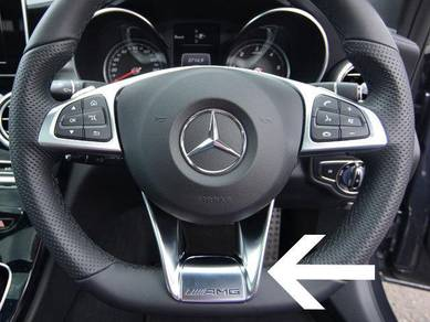 Mercedes Benz Steering AMG Logo Cover