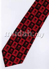 Halloween Radiation Symbol Skull Small Neck Tie