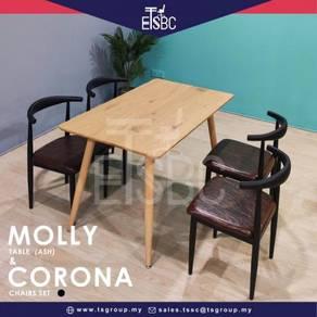 Molly table + 4 corona chairs