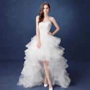 White wedding bridal prom dress gown RB0370