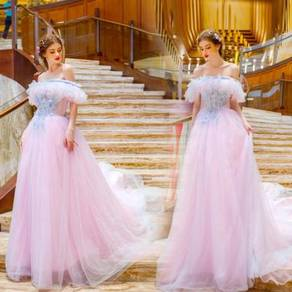 Pink wedding bridal prom dress gown RB0367