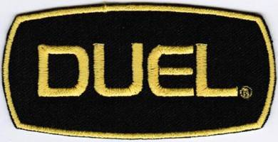 Duel Fishing Badge Iron On Embroidered Patch