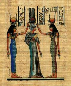 Coronation of egyptian queen nefertari papyrus