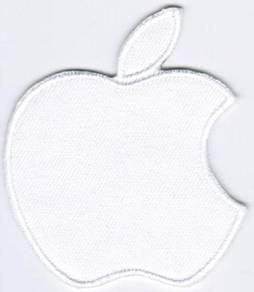 Apple Logo #TW WHITE Badge Iron On Patch