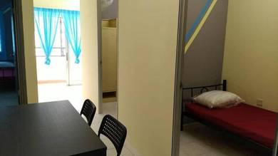 Bilik Sewa Muslim LELAKI Apartment FLORA lengkap perabut ada WIFI
